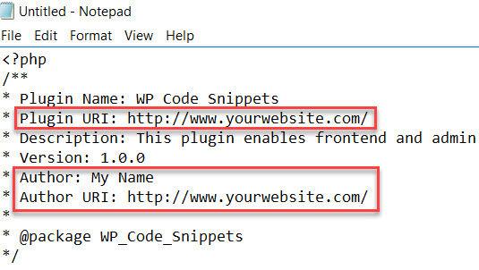 Highlighting plugin details