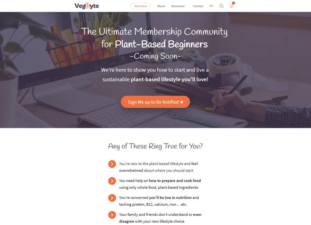 VegByte – Online Membership Resource for Plant-Based Living
